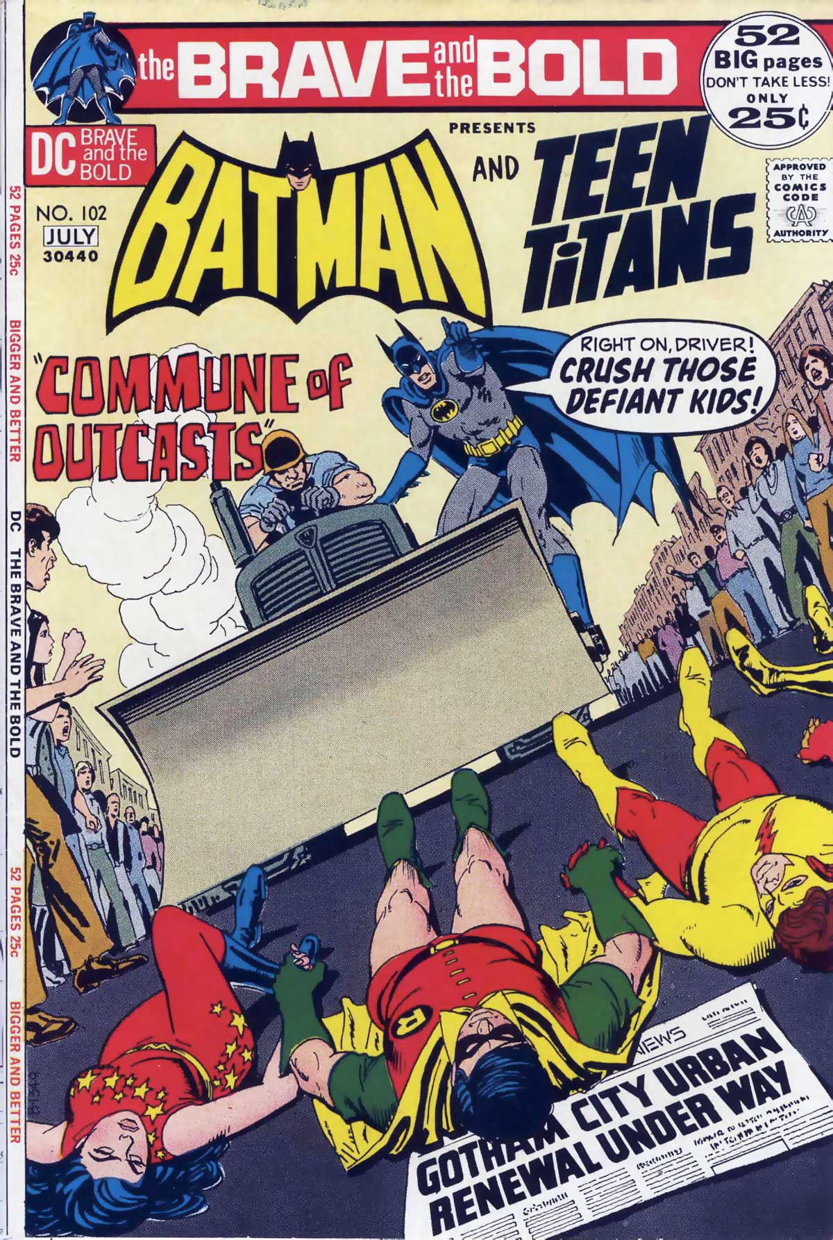 Brave and the Bold #102 with Batman and Teen Titans drawn by Nick Cardy