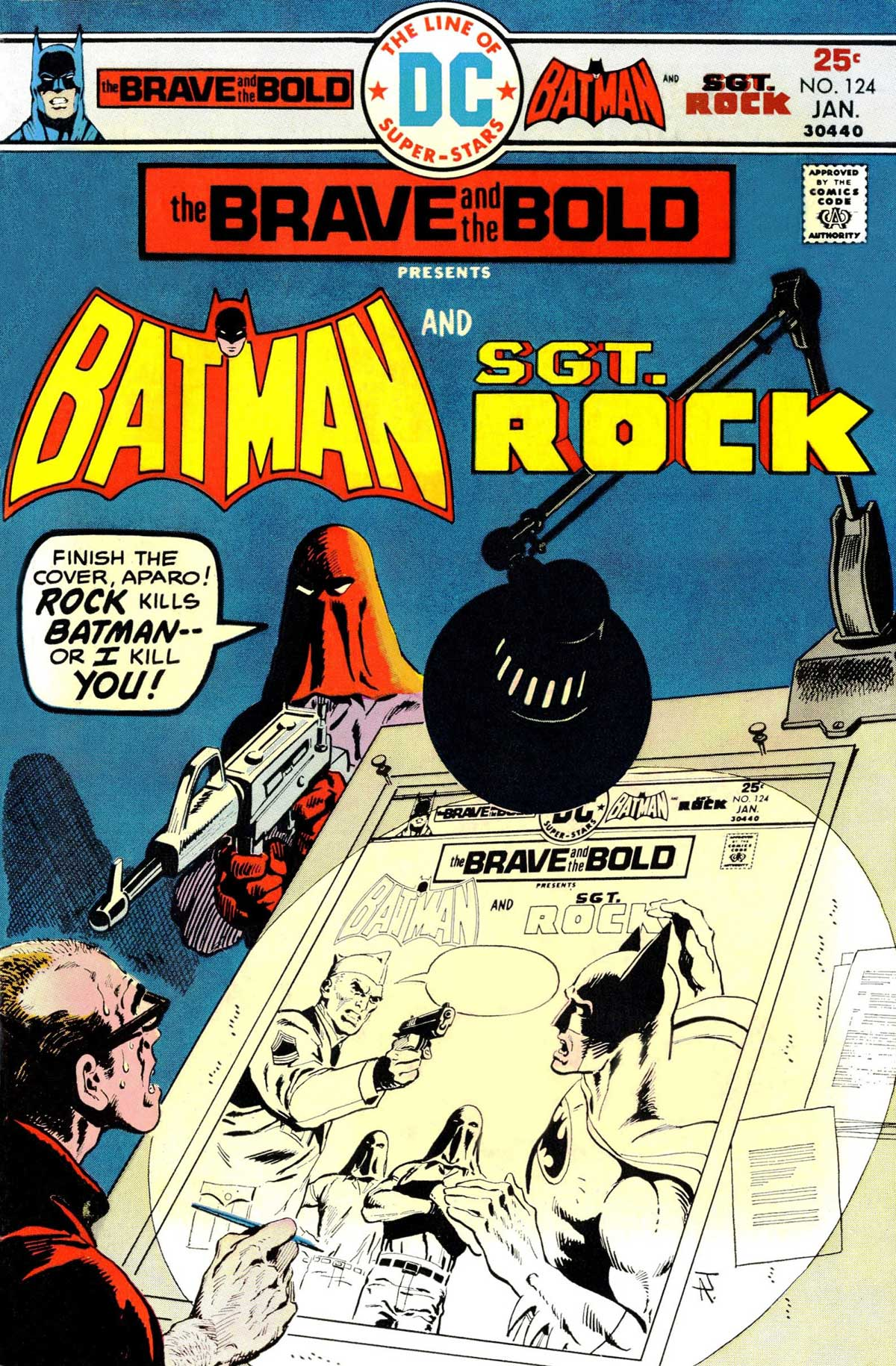 Brave and the Bold with Batman an Sgt Rock cover by Jim Aparo