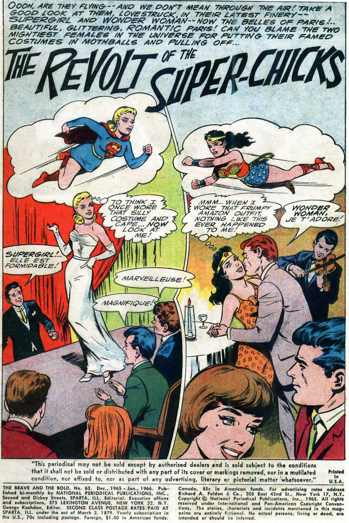 Brave and the Bold #63 featuring Supergirl and Wonder Woman by Bob Haney