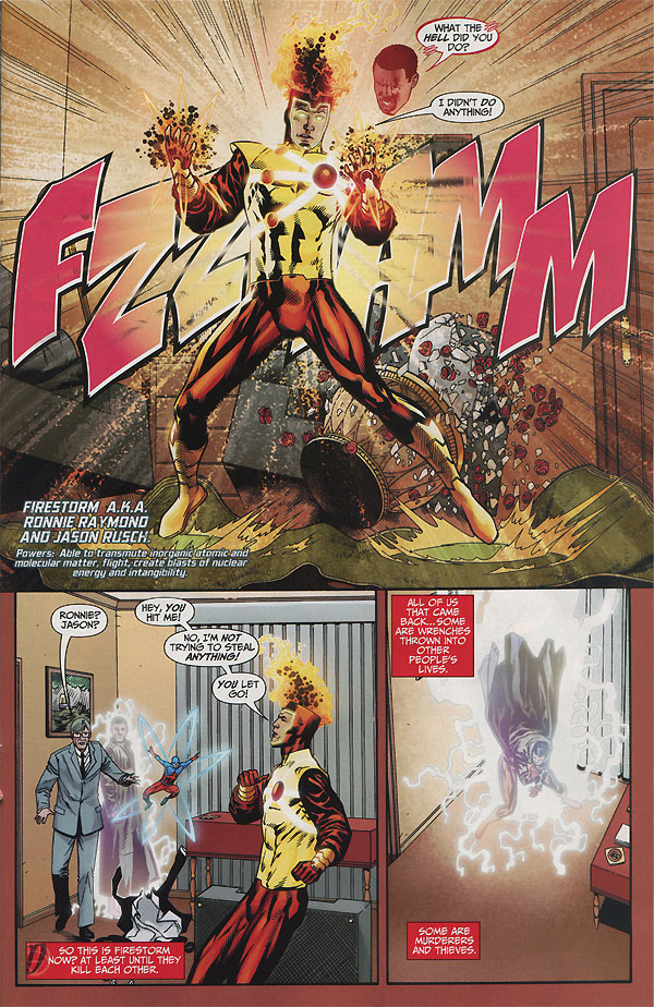 Brightest Day #0 - Ronnie Raymond and Jason Rusch as Firestorm