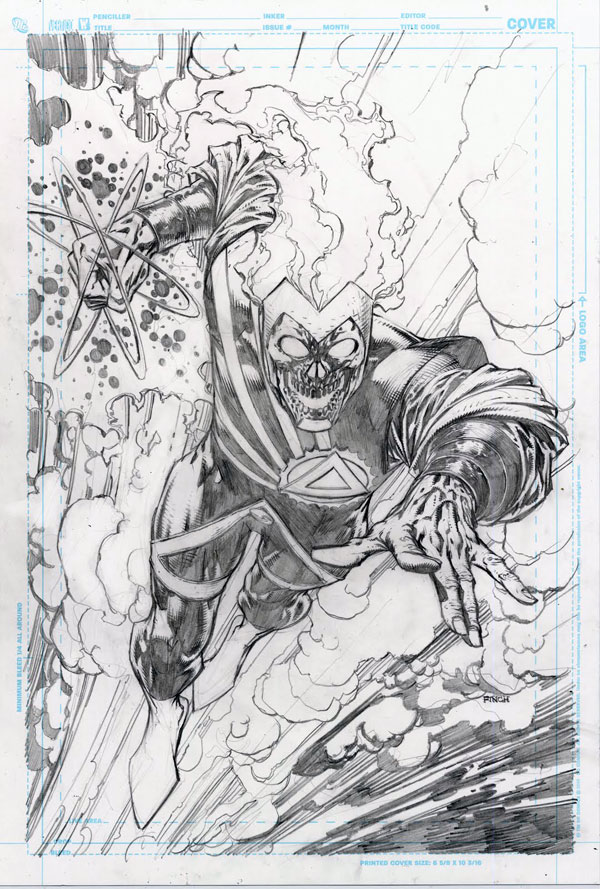 Black Lantern Firestorm Brightest Day Cover by David Finch