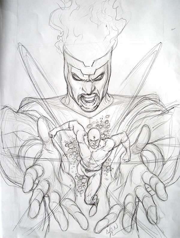 Brightest Day #2 preliminary cover by Ivan Reis