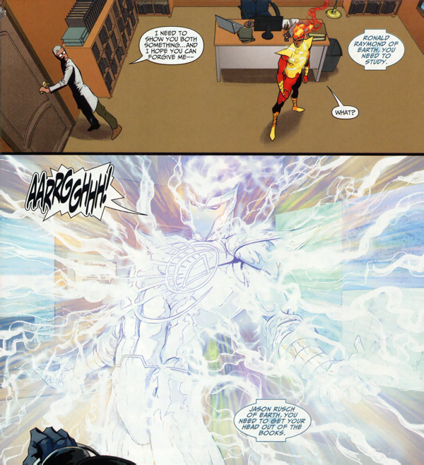 Brightest Day #7 featuring Firestorm as a White Lantern by Scott Clark and Dave Beaty