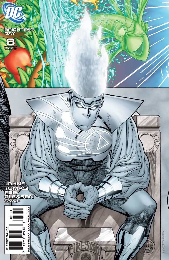 Brightest Day #8 Variant Cover with White Lantern Firestorm