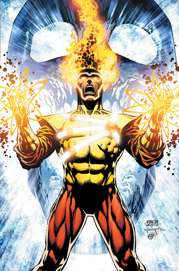 Brightest Day #11 variant cover featuring Firestorm by David Finch and Scott Williams
