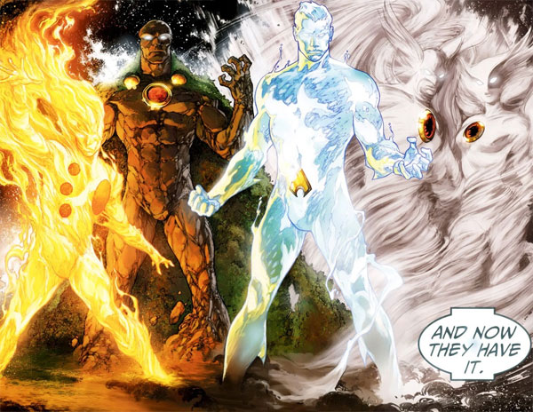 Brightest Day #23 Elementals - Firestorm, Aquaman, Martian Manhunter, Hawkman, Hawkgirl