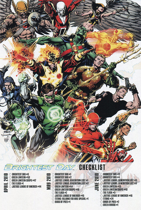 DC Comics Brightest Day advertisement featuring Firestorm