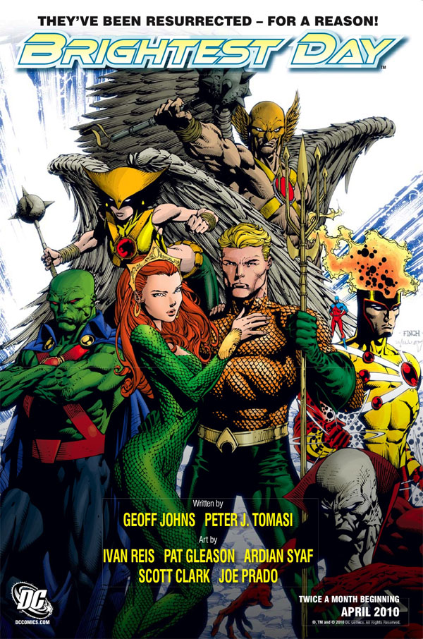 Brightest Day cover by David Finch