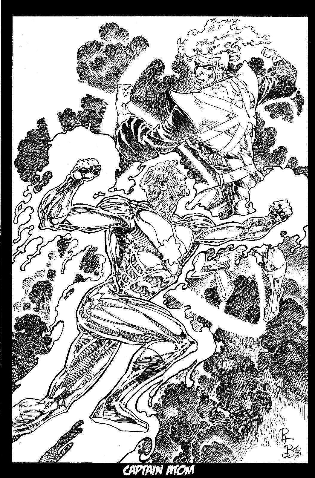 Firestorm vs Captain Atom by Pat Broderick
