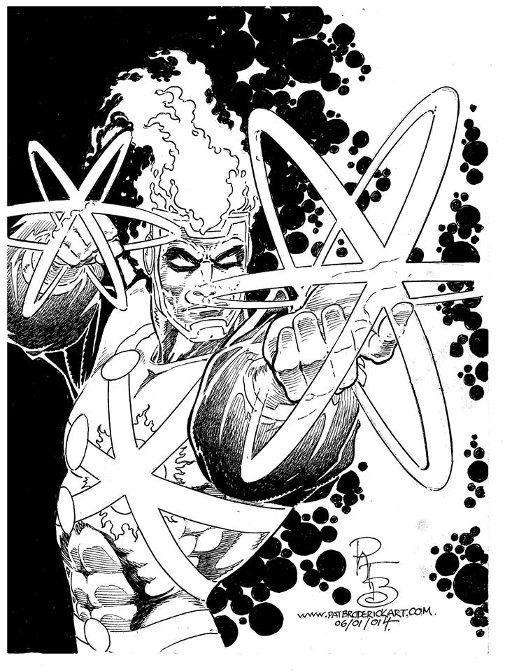 Pat Broderick Firestorm sketch for Heroes Convention 2014
