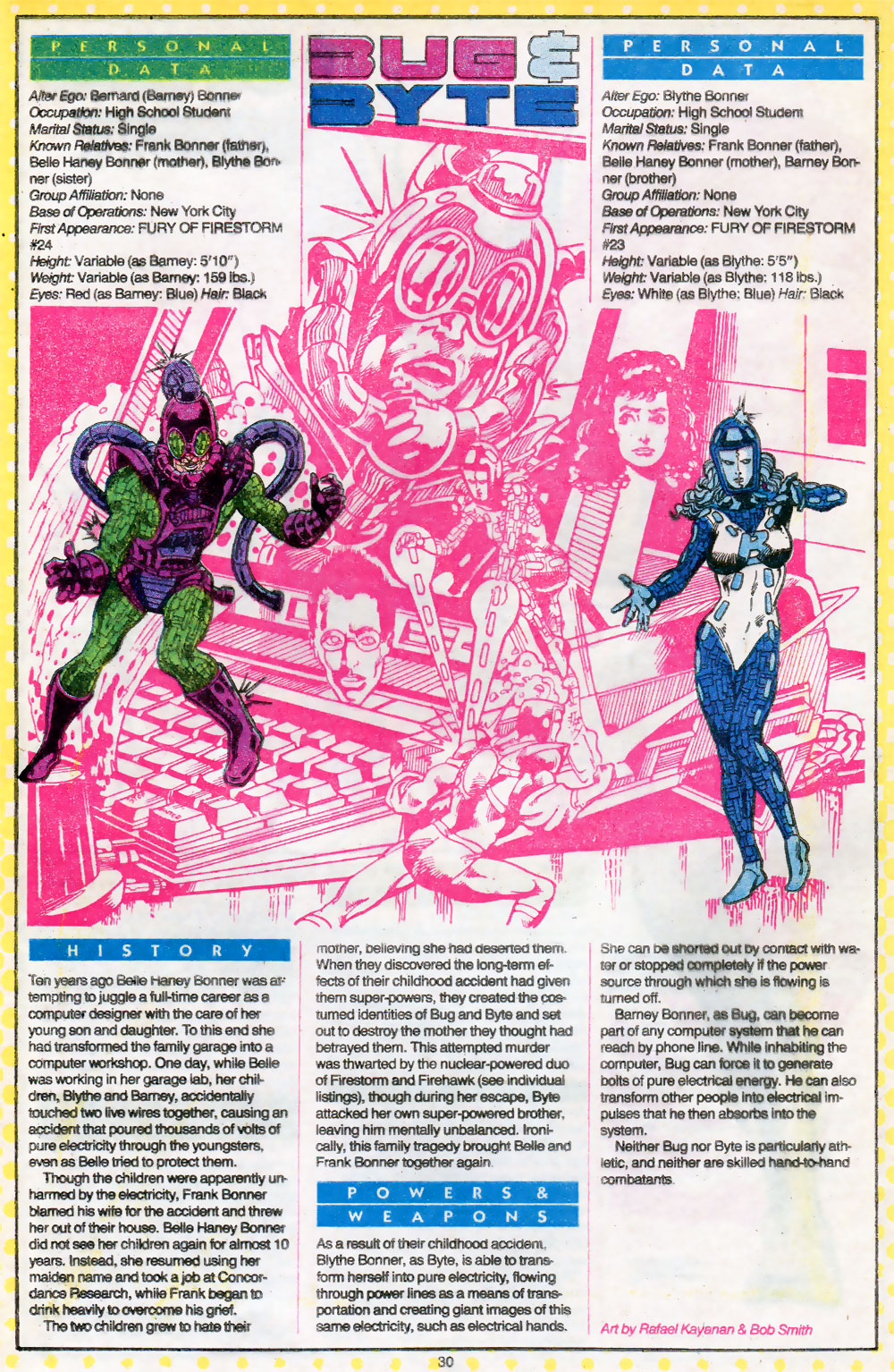 Bug & Byte by Rafael Kayanan from Who's Who: The Definitive Directory of the DC Universe