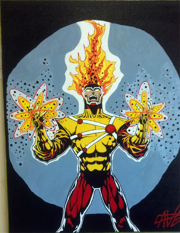 Firestorm painting spotted at Capital Comics II in Raleigh, NC