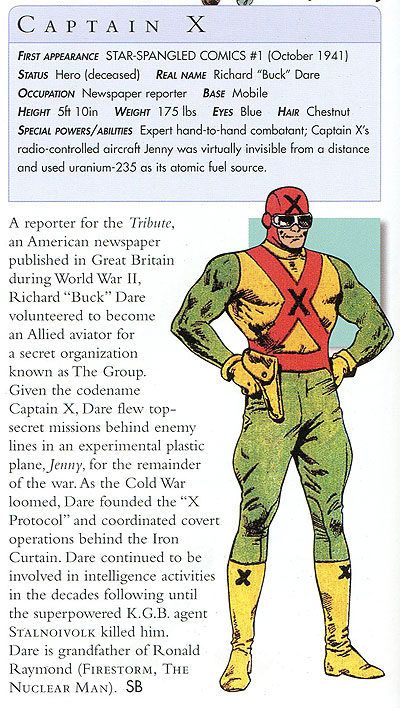 Captain X in DC Comics Encyclopedia, Updated and Expanded Edition