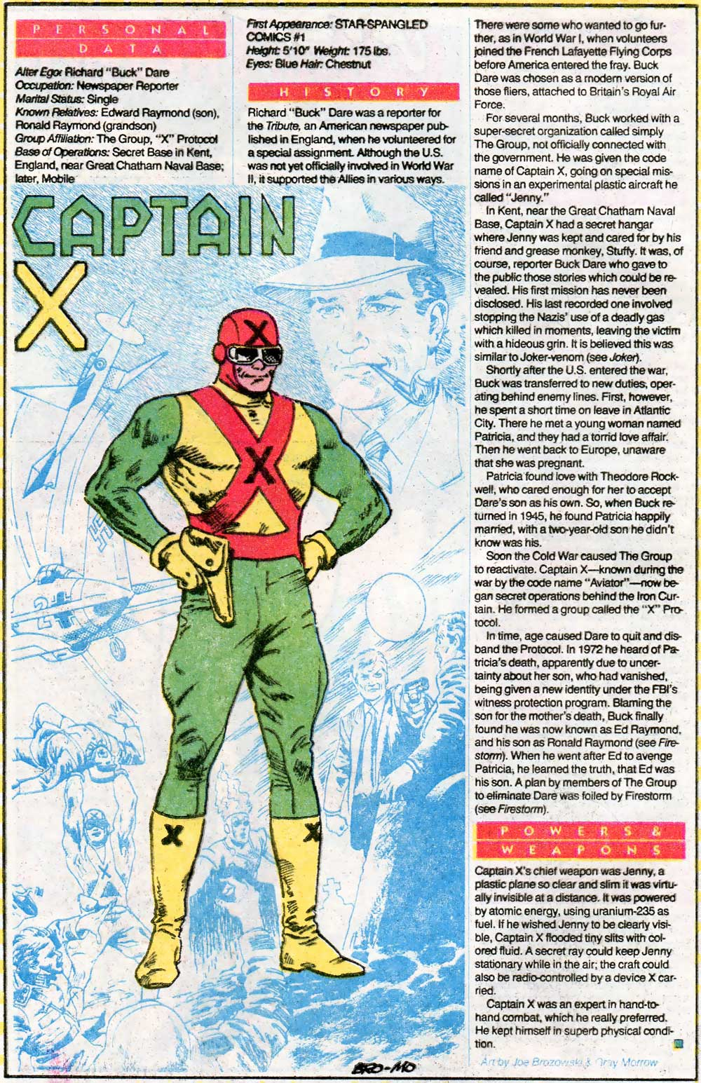 Captain X in Who's Who - Grandfather of Ronnie Raymond
