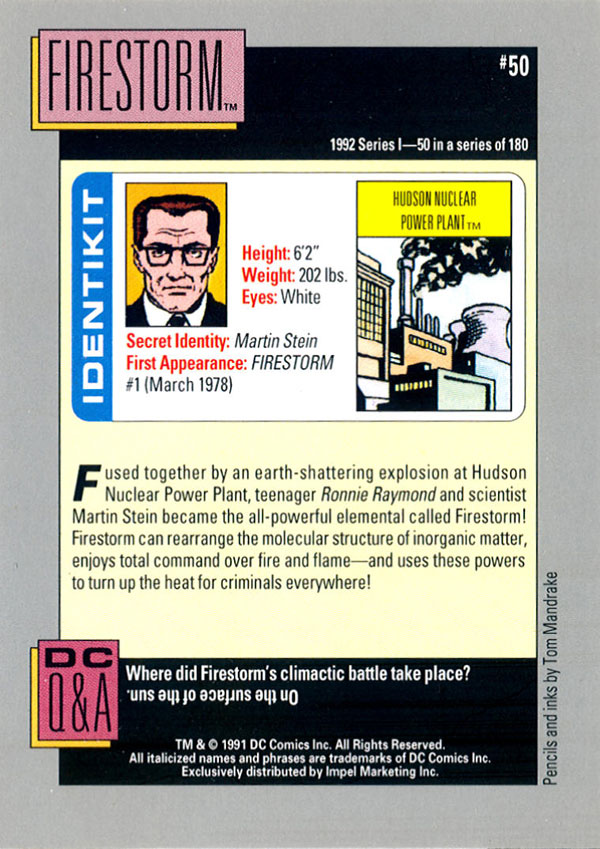 Firestorm DC Cosmic Cards