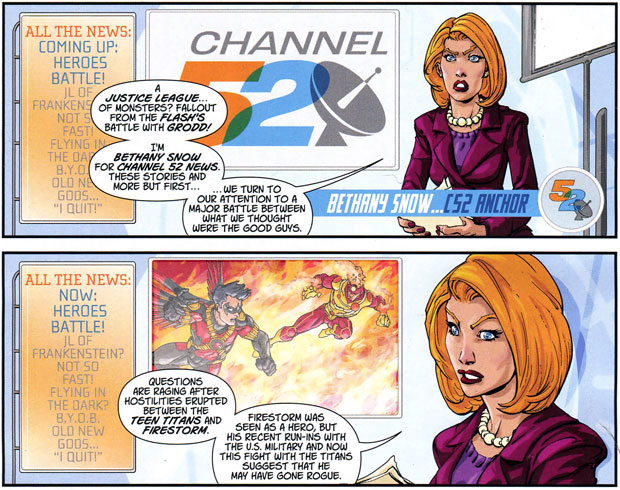 Firestorm in Channel 52 strip