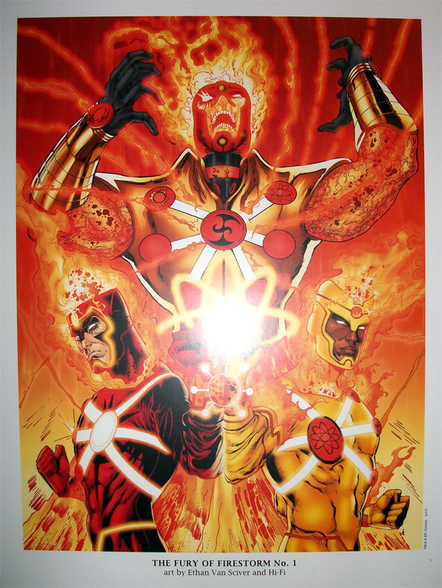 Fury of Firestorm: The Nuclear Men #1 cover portfolio print