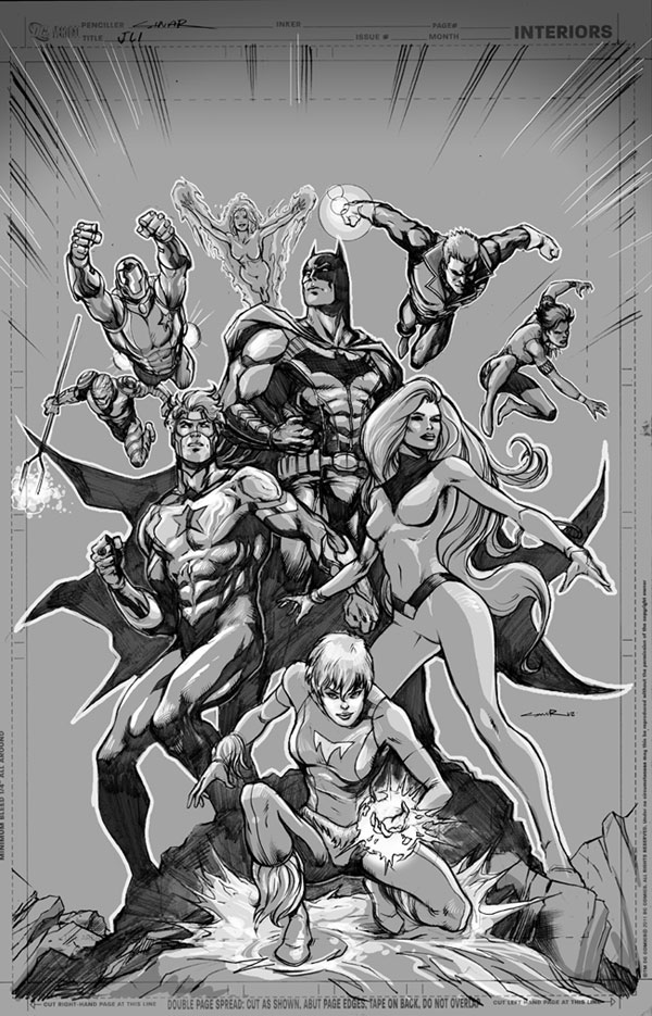 Yildiray Cinar draws the Justice League International on Tumblr