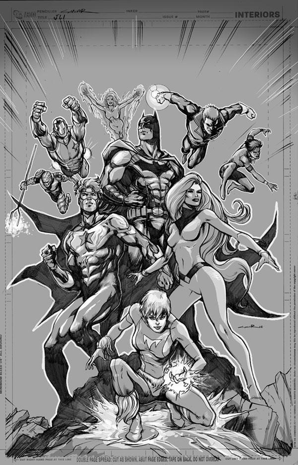 Yildiray Cinar draws the Justice League International on Tumblr