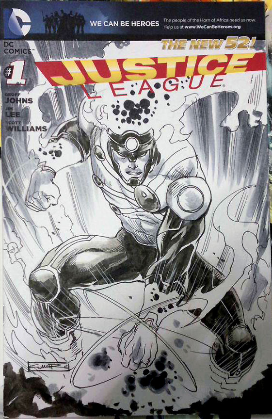 Yildiray Cinar Firestorm sketch from New York Comic Con 2012
