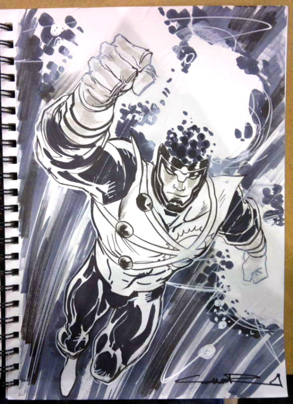 Yildiray Cinar Brightest Day Firestorm sketch from NYCC