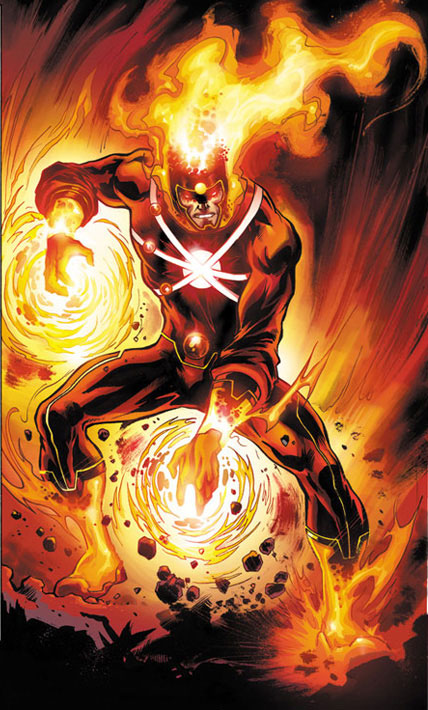 Yildiray Cinar draws Ronnie Raymond Firestorm from Fury of Firestorm #1