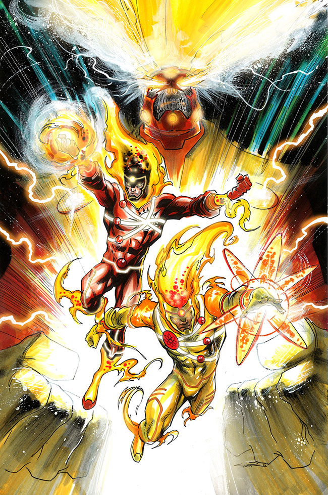 Yildiray Cinar unused cover for Firestorm featuring Ronnie Raymond, Jason Rusch, and Fury
