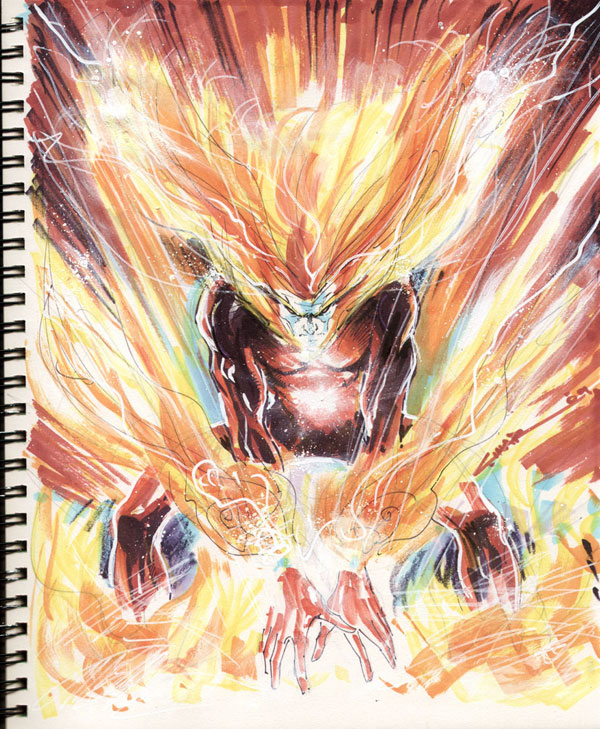 Yildiray Cinar draws the Elemental Firestorm