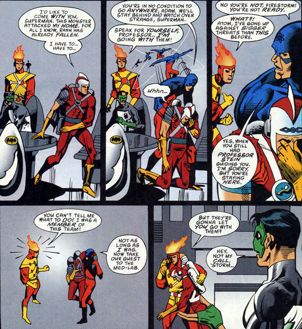 Firestorm in Green Lantern: Circle of Fire by Brian K. Vaughan and Norm Breyfogle