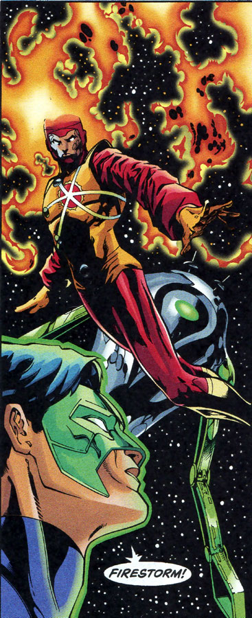 Firestorm in Green Lantern: Circle of Fire by Brian K. Vaughan, Robert Teranishi, and Claude St. Aubin