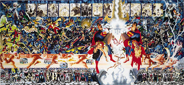 Eleven blogs crossover george perez alex ross crisis on for Extra mural classes