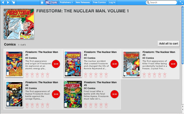 Firestorm the Nuclear Man comes to comiXology