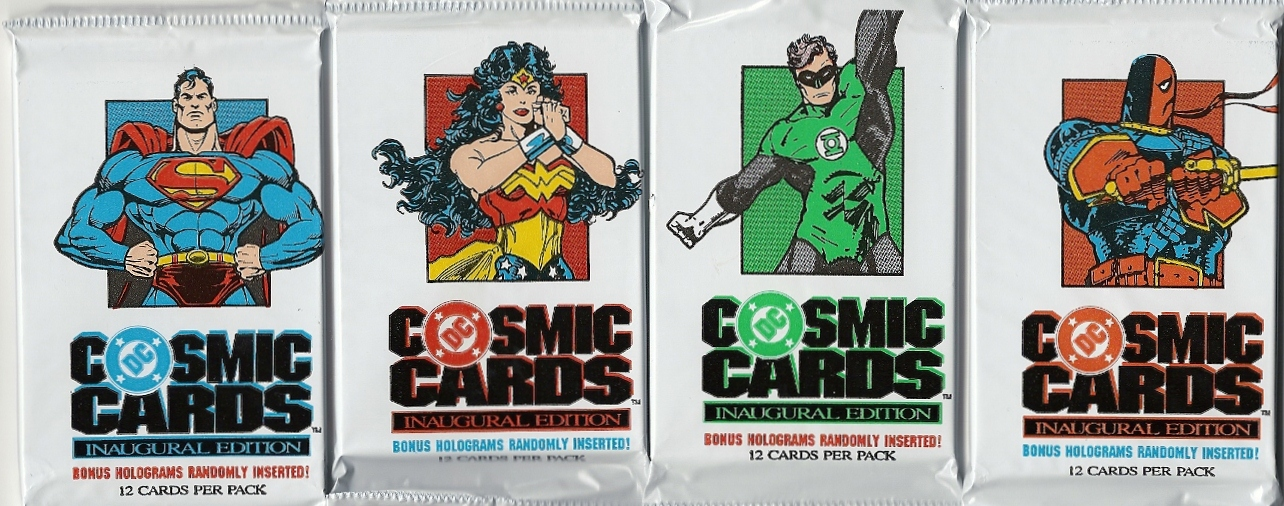 DC Cosmic Cards trading card packs