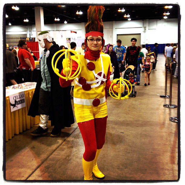 Lady Firestorm cosplay from the Denver Comic Con found via Peter Rios' Twitter Feed