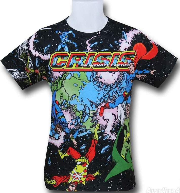 Crisis on Infinite Earths Variant Sublimated T-Shirt