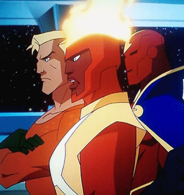 Firestorm in Justice League: Crisis on Two Earths DVD