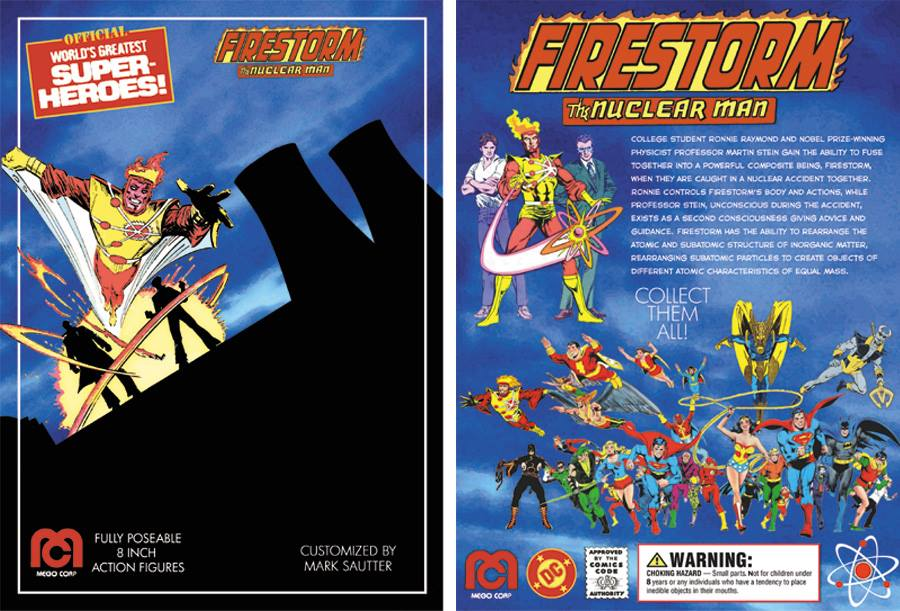Markneto's custom Mego Firestorm action figure card