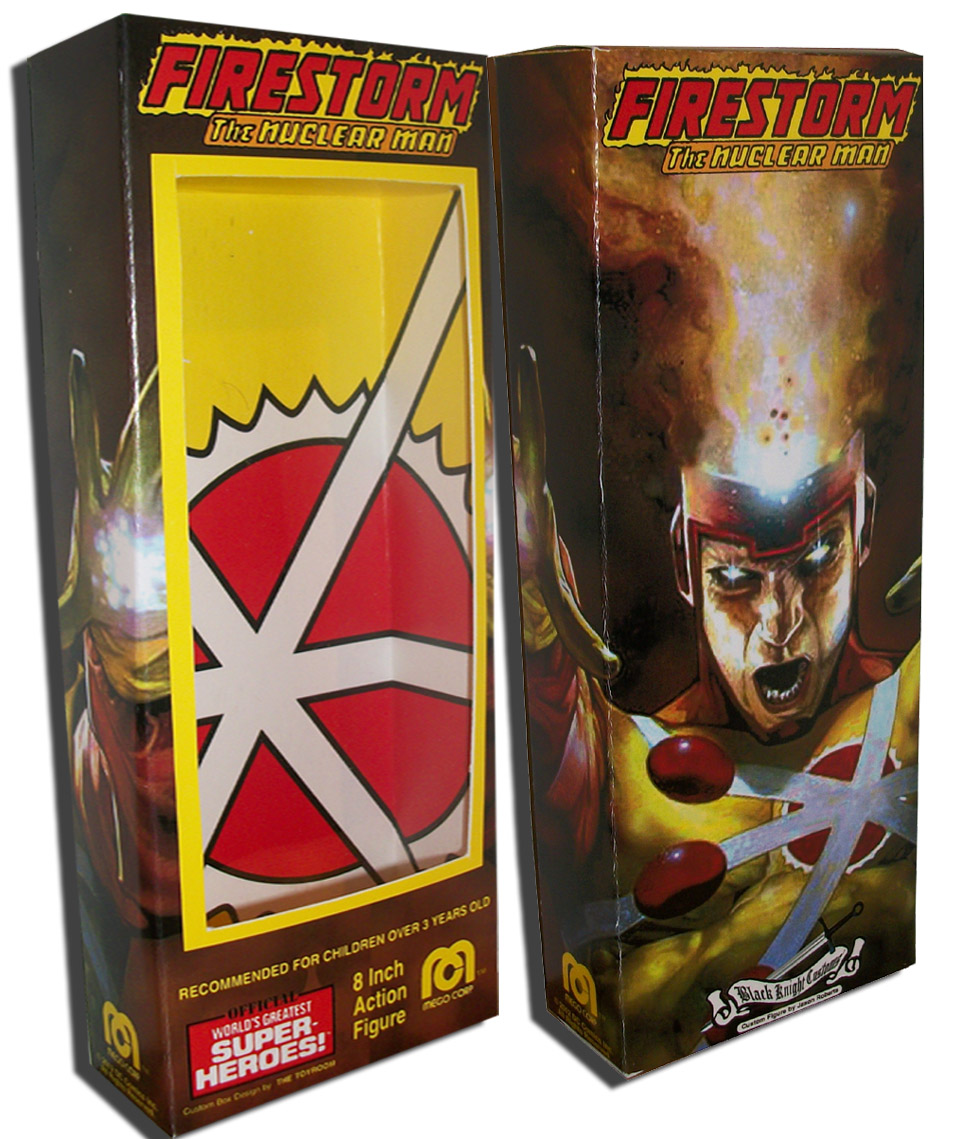 Firestorm Custom Mego Action Figure box by The Toyroom