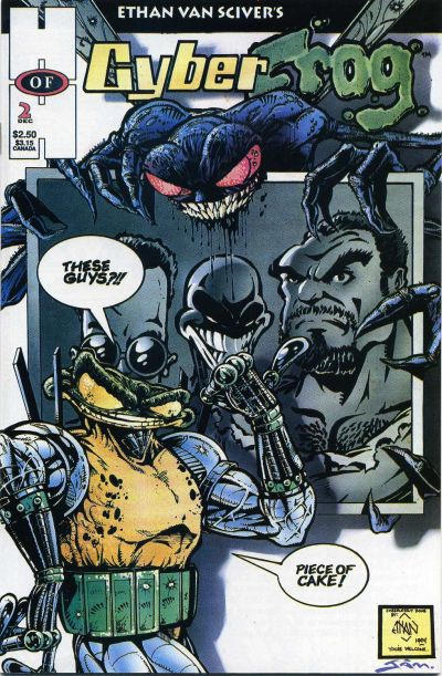 CyberFrog #2 published in 1994 by Ethan Van Sciver