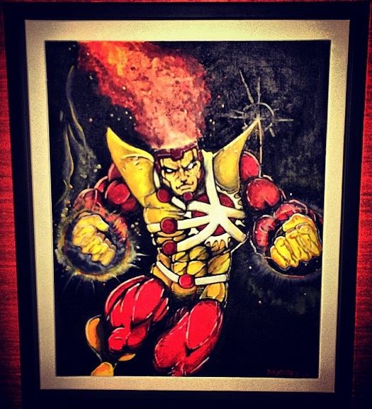 Firestorm painting by Chris Daughtry