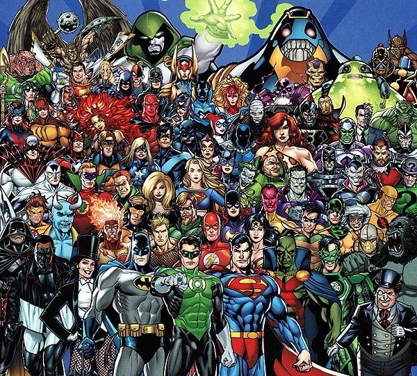 main dc superheroes