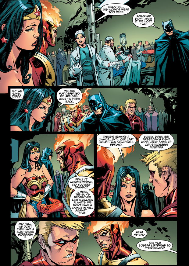 DC Universe Online Legends #24 artwork by Howard Porter and Livesay
