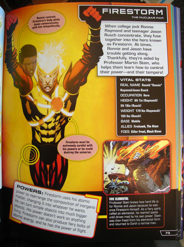 Firestorm from the DC Comics Ultimate Character Guide