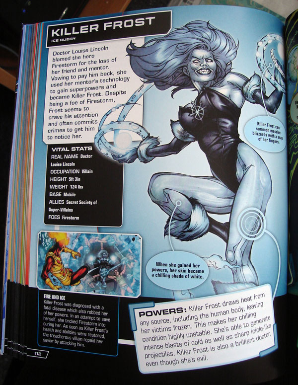 Killer Frost from the DC Comics Ultimate Character Guide