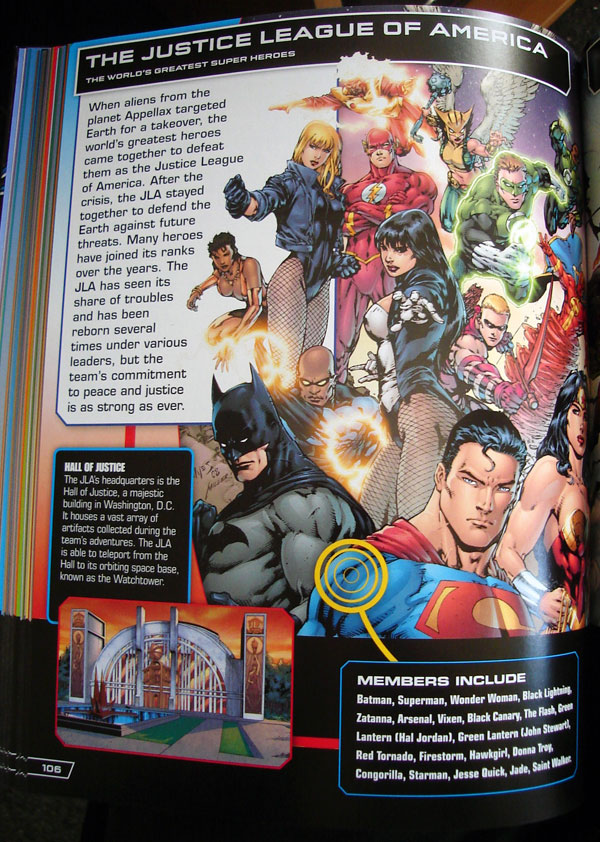 Justice League of America from the DC Comics Ultimate Character Guide