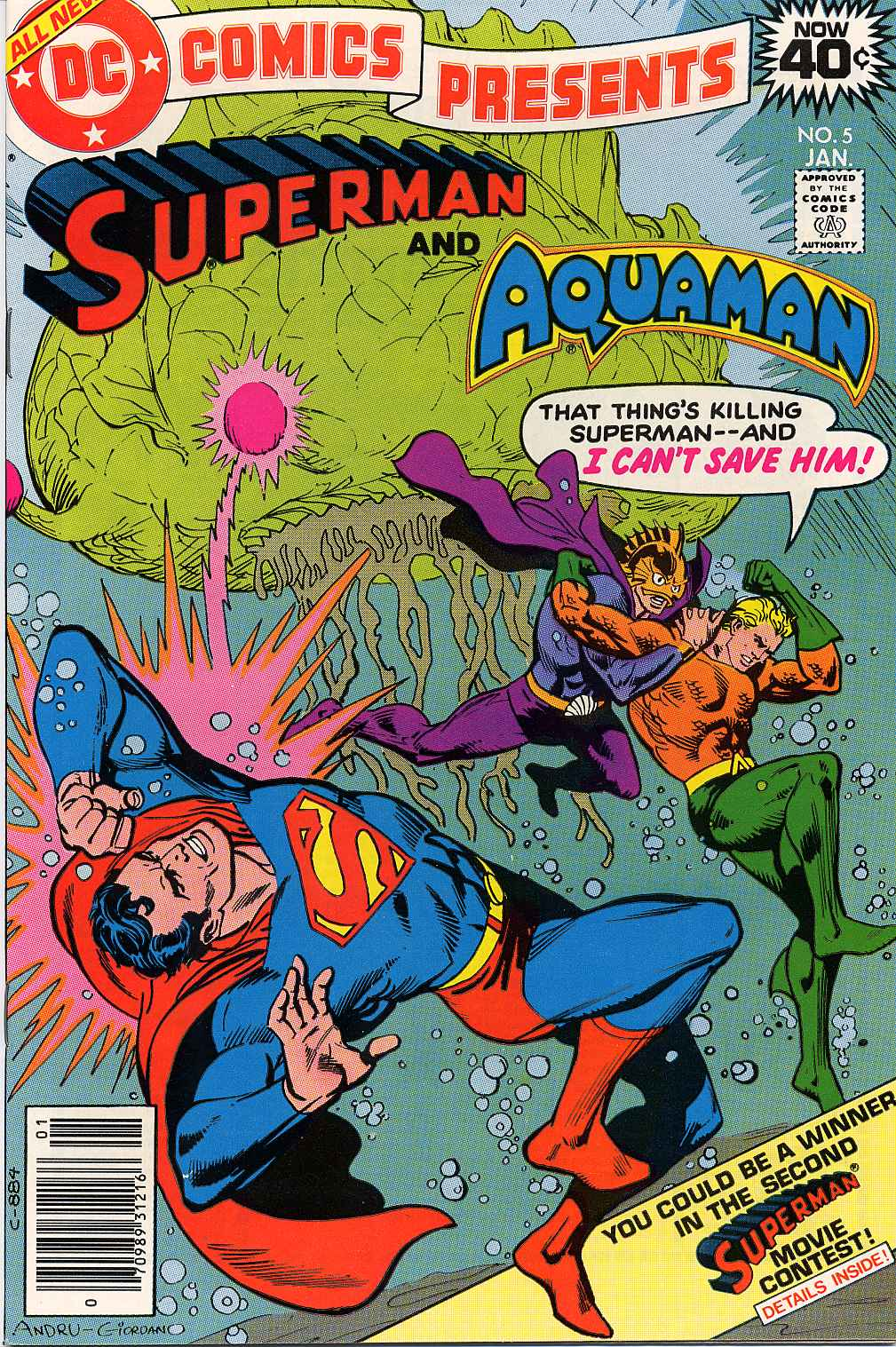 DC Comics Presents #5 featuring Superman and Aquaman, cover by Ross Andru and Dick Giordano