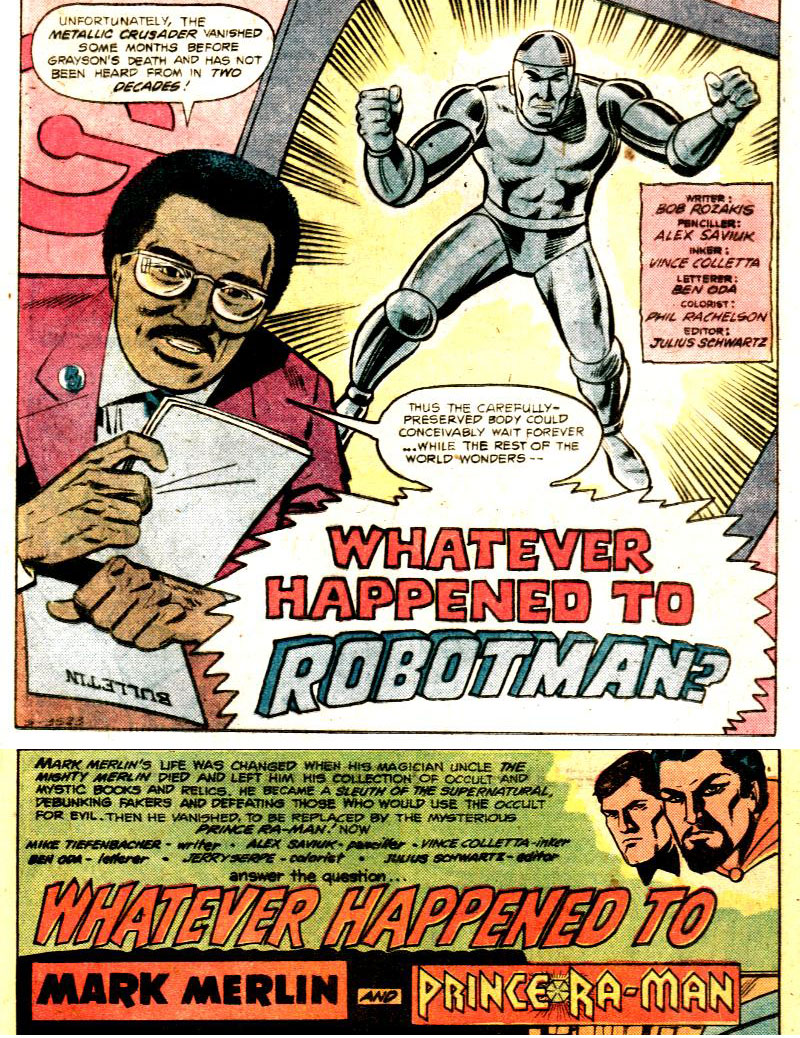 Whatever Happened to Robotman an Mark Merlin/Prince Ra-Man?