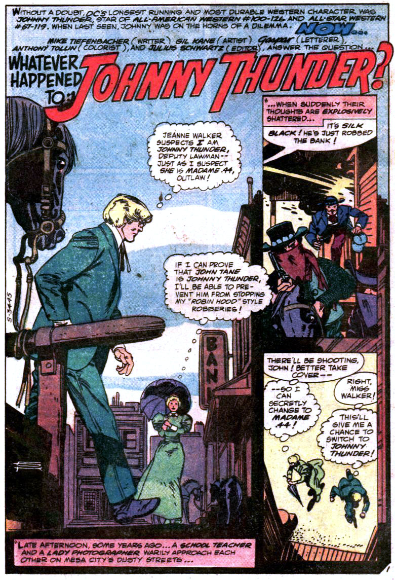 DC Comics Presents Whatever Happened to Johnny Thunder
