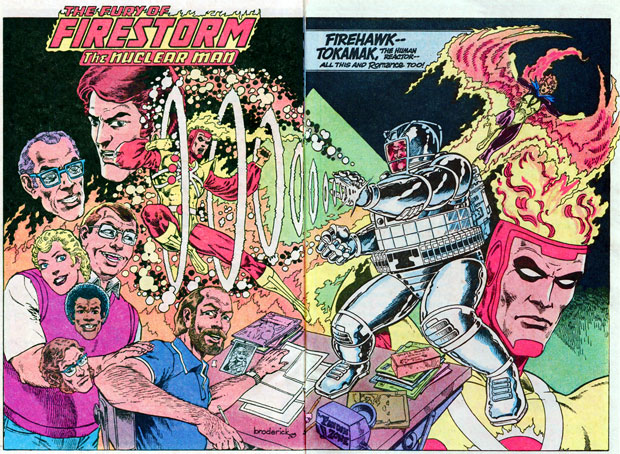 Fury of Firestorm in DC Sampler 1983 by Pat Broderick featuring Gerry Conway