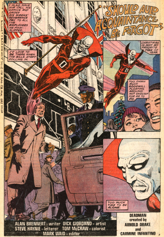 Deadman Christmas by Alan Brennert and Dick Giordano